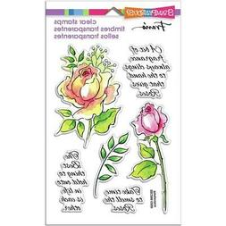 New Stampendous Rubber Stamp set clear Acrylic FRAGRANT ROSE