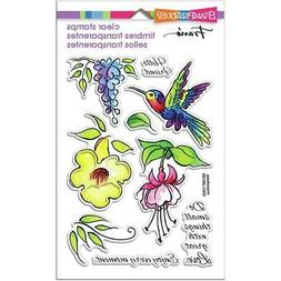 New Stampendous Rubber Stamp set clear Acrylic HUMMINGBIRD H