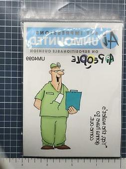 New ART IMPRESSIONS Rubber Stamp set DR DOCTOR BILL set free