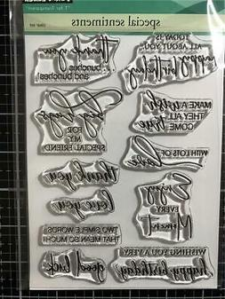 New Penny Black Rubber Stamp set SPECIAL SENTIMENTS BIRTHDAY