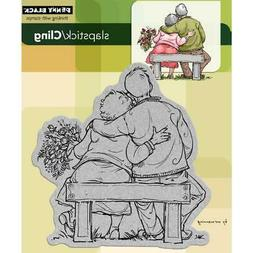 New Penny Black RUBBER STAMP TOM & TILLY COUPLE LOVE free US