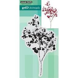 New Penny Black RUBBER STAMP WINTER GRACEFUL WHISPER FOLIAGE