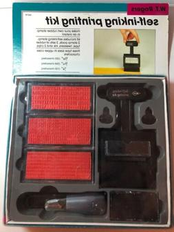 NEW W.T. Rogers Self-Inking Printing Kit / Set No 04218 Make