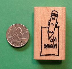 No Name/Pencil - Teacher's Rubber Stamp, Wood Mounted