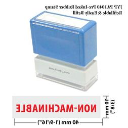 NON-MACHINABLE -  JYP PA1040 Pre-Inked Rubber Stamp