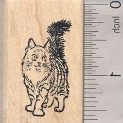 Norwegian Forest Cat Rubber Stamp, Cold Climate Cat from Nor