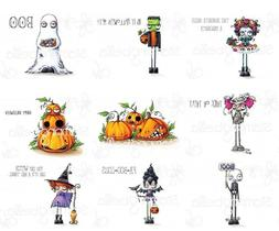 ODDBALL HALLOWEEN THEME-Stamping Bella Cling Mount Rubber St