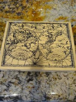Stampendous Old World Map R163 Rubber Stamp