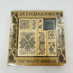 Ornamental Rubber Stamp Set