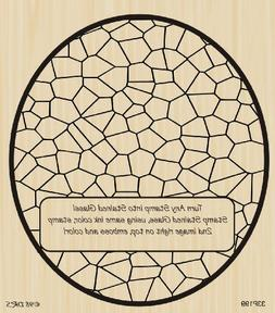 Oval Stained Glass Rubber Stamp By DRS Designs