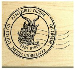 P119 Krampus postmark rubber stamp