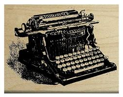 P12 Vintage Typewriter rubber stamp WM 2.25x1.75""
