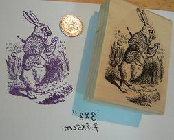 P3 Alice in Wonderland's rabbit rubber stamp WM