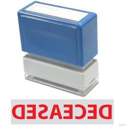 """JYP PA1040 Rectangle Stock Pre-Inked Rubber Stamp with """"Dece"""