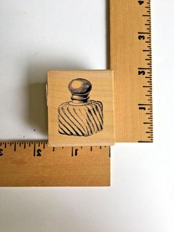 Paper Inspirations Rubber Stamp - Square Decorative Bottle -