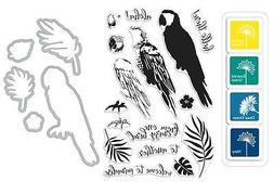 """Hero Arts """"PARROT"""" Clear Stamps + Frame Cuts Dies + Mini Ink"""