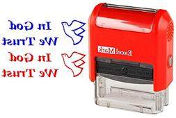 IN GOD WE TRUST - ExcelMark Self-Inking Two-Color Rubber Pat