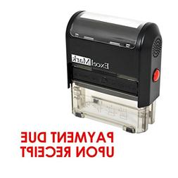 PAYMENT DUE UPON RECEIPT Self Inking Rubber Stamp - Red Ink