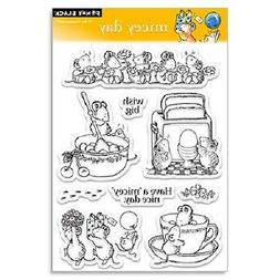 PENNY BLACK RUBBER STAMPS CLEAR MICEY DAY MOUSE NEW clear ST