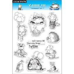PENNY BLACK RUBBER STAMPS CLEAR BUBBLY CATS NEW clear STAMP