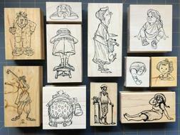 """PEOPLE"" RUBBER STAMPS ~ RARE ART IMPRESSIONS DIAMONDS IMAGI"
