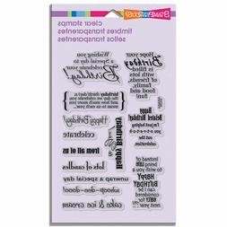 Stampendous Perfectly Clear Stamps 4X6 Sheet-Birthday Assort