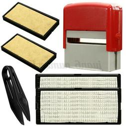 Personalised Self Inking Rubber Stamp Kit Business Name Addr