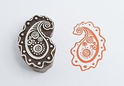 Blockwallah Playful Paisley Wooden Block Stamp