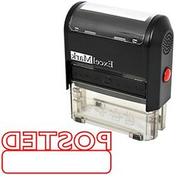 POSTED Self Inking Rubber Stamp - Red Ink