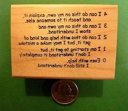 Proficiency Rubric 43210, Teacher's Wood Mounted Rubber Stam