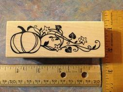 "Inkadinkado ""Pumpkins w/ floral vine""  Halloween/Thanksgivin"