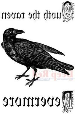 Deep Red Stamps Quoth The Raven Rubber Stamp