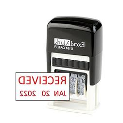 Received - ExcelMark Self-Inking Rubber Date Stamp - Compact