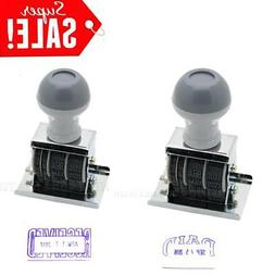 Received & Paid Rubber Manual Set Date Stamp For Business Of