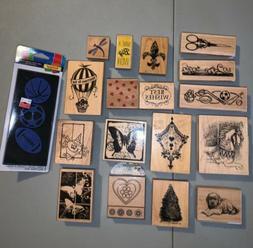 inkadinkado, Recollections, Hampton Art +  rubber stamp Lot