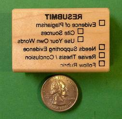 RESUBMIT - Teacher's wood mounted rubber stamp