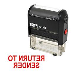 RETURN TO SENDER Self Inking Rubber Stamp - Red Ink