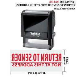 Return to Sender NOT at This Address-JYP4912-R05-Self Inking