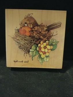 Robin 80274 Bird in Nest Carolyn Shores Wright Stamps Happen