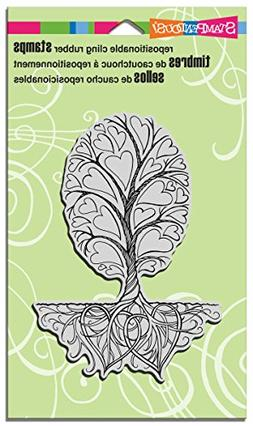 STAMPENDOUS Roots of Love Rubber Stamp Cling