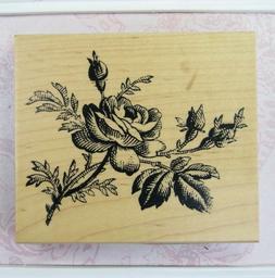 Rose Rubber Stamp by Inkadinkado 60-00651 Victorian Flower C