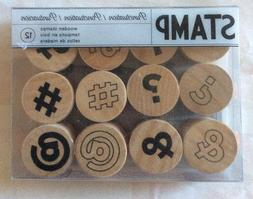 Round Mini Wood Stamp Set - Punctuation #375079
