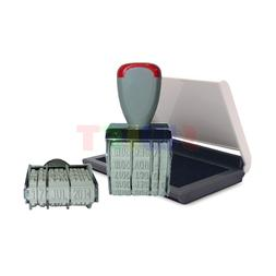 Rubber Manual Set Date Stamp + Black Ink Pad for Business Of