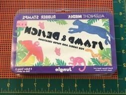 All Night Media Rubber Stamp & Design Set Jungle Fabric Crea