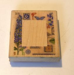Inkadinkado Rubber Stamp Floral Collage Border