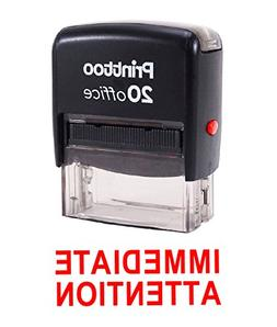 Printtoo Rubber Stamp IMMEDIATE ATTENTION Self Inking Office