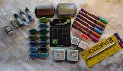Rubber Stamp Ink Supplies~Markers~Refills~Pigment Brush Pads