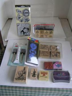 Rubber Stamp KITS NEW! Recollections LOT OF 10 Designer Stam