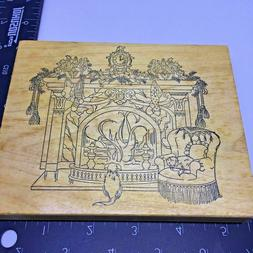 Stamps Happen Rubber Stamp Large Decorative Fireplace Christ