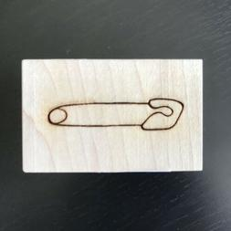 Rubber Stamp Safety Pin Baby Shower Newborn by Clearsnap